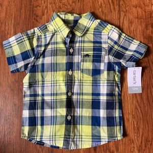 Carters Blue & Yellow Button-Up Top. [NWT]